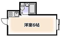 大阪府大阪市浪速区恵美須東1丁目の賃貸マンションの間取り