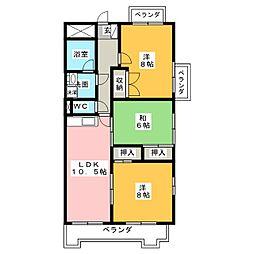 ひまりビル[8階]の間取り