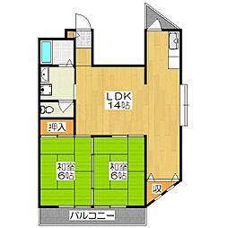 パールハイツ壱番館[3階]の間取り