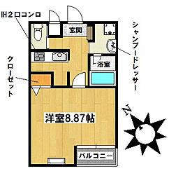 愛知県名古屋市千種区千種1丁目の賃貸マンションの間取り