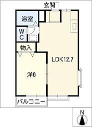 ニュータウンオクムラ[1階]の間取り