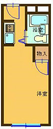 神奈川県横浜市栄区長沼町の賃貸マンションの間取り