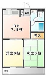 レグルス甲子園[1階]の間取り