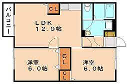 エクレア瀧[1階]の間取り