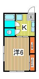 ふじ荘[2階]の間取り