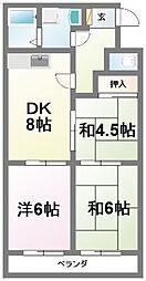 ラ・メゾン東所沢[1階]の間取り