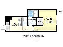 京王線 仙川駅 徒歩12分の賃貸アパート 1階1Kの間取り