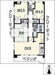 サンシャインビル[4階]の間取り
