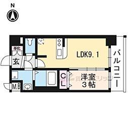 プレサンスTHEKYOTO澄華702 2階1LDKの間取り