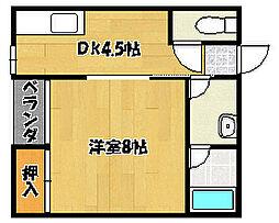 兵庫県明石市西明石町2丁目の賃貸マンションの間取り
