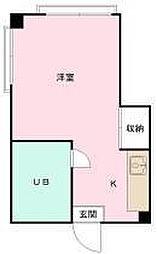 東京都渋谷区恵比寿2丁目の賃貸アパートの間取り