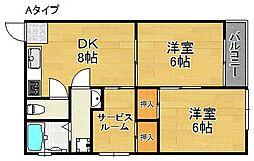 沢之町駅前ビルマンション[3階]の間取り