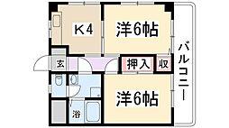 兵庫県伊丹市緑ケ丘7丁目の賃貸マンションの間取り