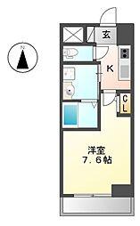 パルティール新栄[2階]の間取り