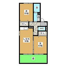 ホクト B棟[1階]の間取り