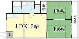 詩仙ハイムI[3階]の間取り