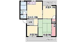 兵庫県加古川市米田町平津の賃貸マンションの間取り