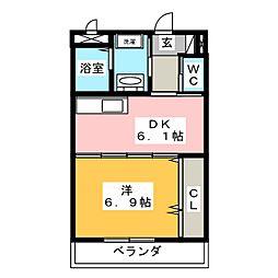フラットゆい[2階]の間取り