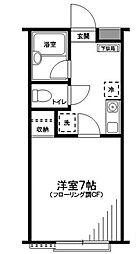 神奈川県横浜市神奈川区三ツ沢上町の賃貸アパートの間取り