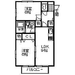 プチグリーンI・II[1階]の間取り