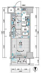 メインステージ千住中居町[6階]の間取り