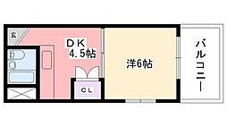 中山ハイツ[305号室]の間取り