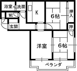 メゾン一番館[3階]の間取り