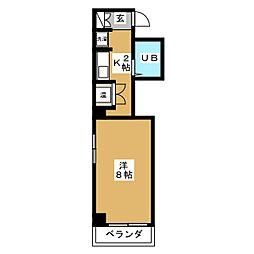 マンション セブンエス[4階]の間取り