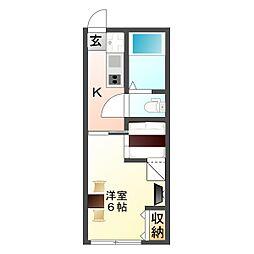 大阪府大阪市平野区喜連5丁目の賃貸アパートの間取り