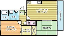 リバーフィールドII[2階]の間取り