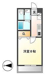 ボタニカルコート[9階]の間取り