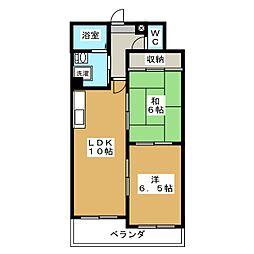 エスポワール桃栄[3階]の間取り