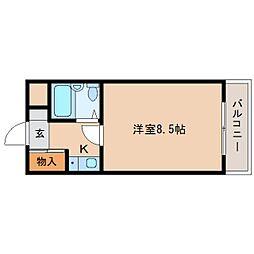 京都府木津川市相楽の賃貸マンションの間取り