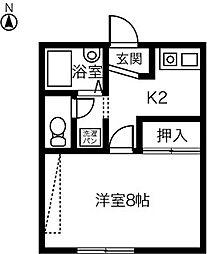 EAST COURT 両郷B[108号室]の間取り