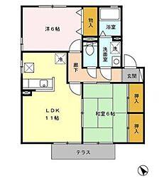 宮崎県宮崎市新別府町の賃貸アパートの間取り