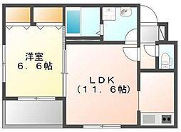 宇土新築アパート[1階]の間取り