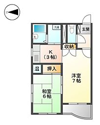 M・K平安[2階]の間取り