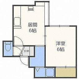 ベルハイムIII[1階]の間取り