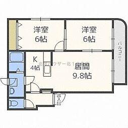 グランメールN12[3階]の間取り