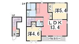 シャーメゾンアメニティ[2階]の間取り