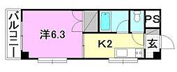 グランピアHOMEN[4階]の間取り