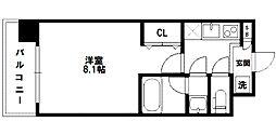 レジディア新大阪[6階]の間取り