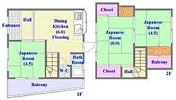 [一戸建] 兵庫県神戸市垂水区東垂水2丁目 の賃貸【兵庫県 / 神戸市垂水区】の間取り