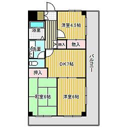 愛知県名古屋市港区川間町1丁目の賃貸マンションの間取り