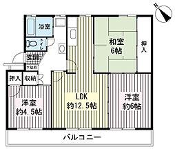 AZ Garden千本浜公園 2号棟[2階]の間取り