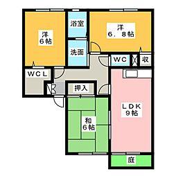メゾンサンシャインII[1階]の間取り