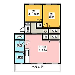 Reavivo A棟[2階]の間取り
