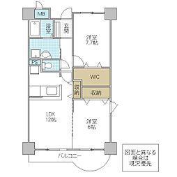 木村ロイヤルマンション IV[302号室号室]の間取り