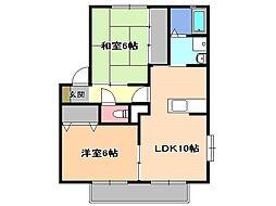 サンガーデンボニータIII[1階]の間取り