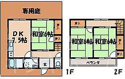 [テラスハウス] 広島県安芸郡海田町新町 の賃貸【/】の間取り